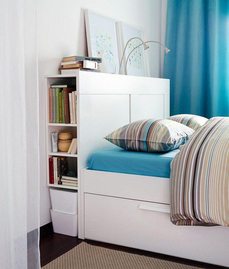 26 t tes de lit avec rangement int gr pour votre chambre ideias para quarto e quartos. Black Bedroom Furniture Sets. Home Design Ideas