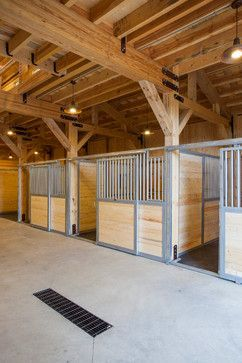 my barns stables actually look a lot like this the ceiling is just ...