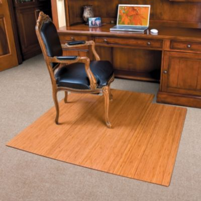 Bamboo Office Chair Mat 55 X 56 1 2 Office Chair Mat Chair Mats