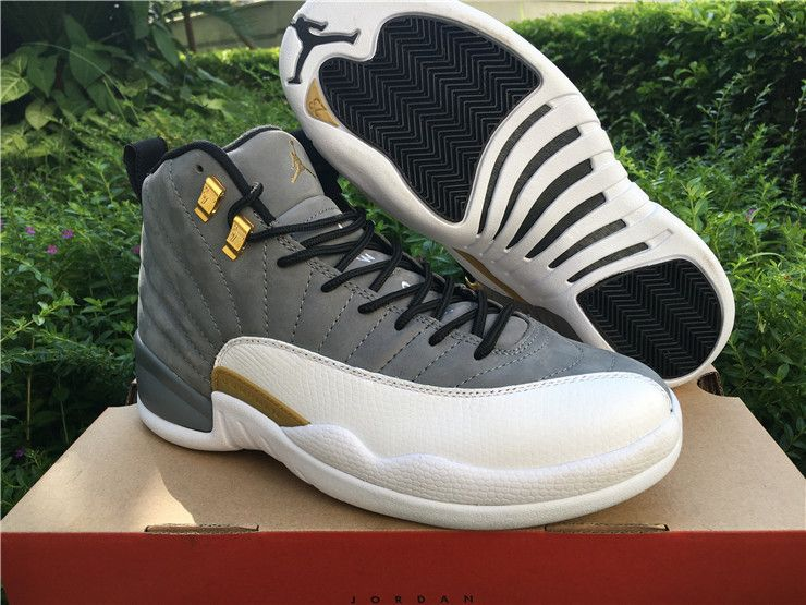 9546789ef5a Authentic Air Jordan 12 Trophy Room cool grey gold | Stuff to buy ...