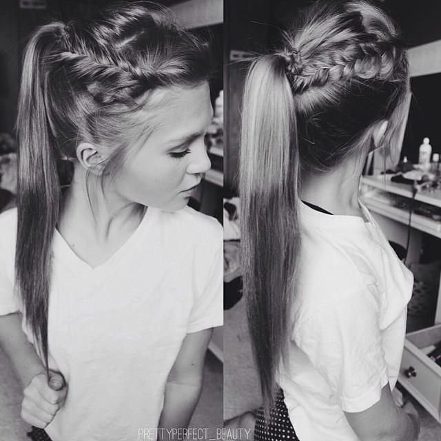 Crown Braid High Ponytail Trends Style Gorgeous Hair