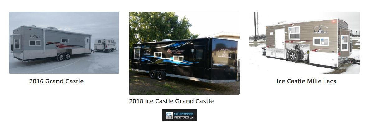 Chartered rentals offers a variety of ice houses fishing