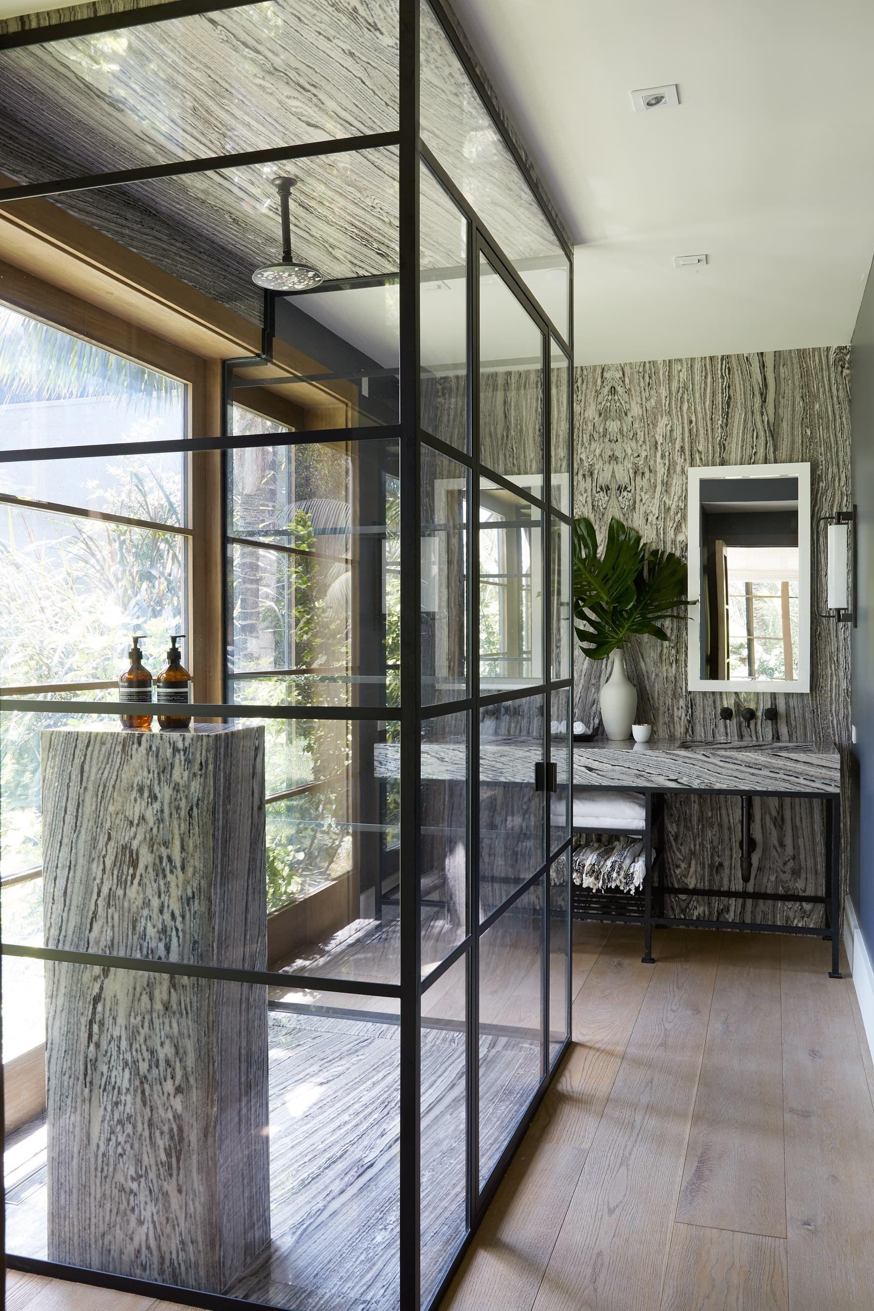 Best Martyn Lawrence Bullard Design Marble Pedestal In Shower 400 x 300