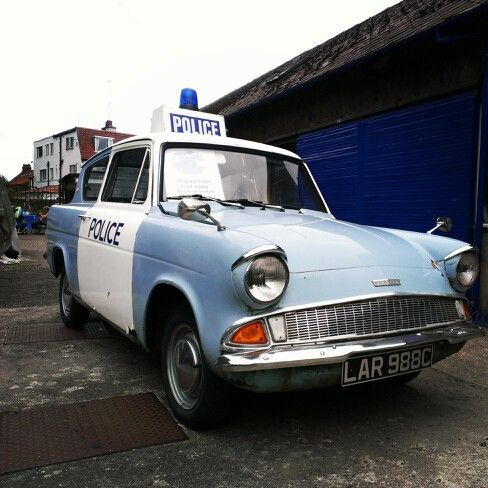 Retro Ford Anglia The Policecar From Heartbeat Ford Anglia Tv