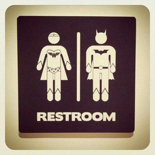 Superhero bathrooms