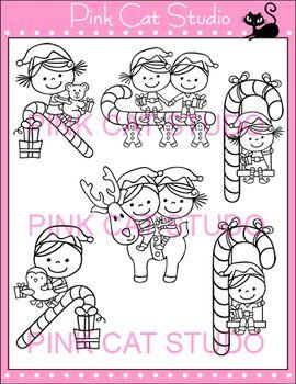 KIDDIE ELVES CHRISTMAS CLIP ART - PERSONAL OR COMMERCIAL USE - TeachersPayTeachers.com