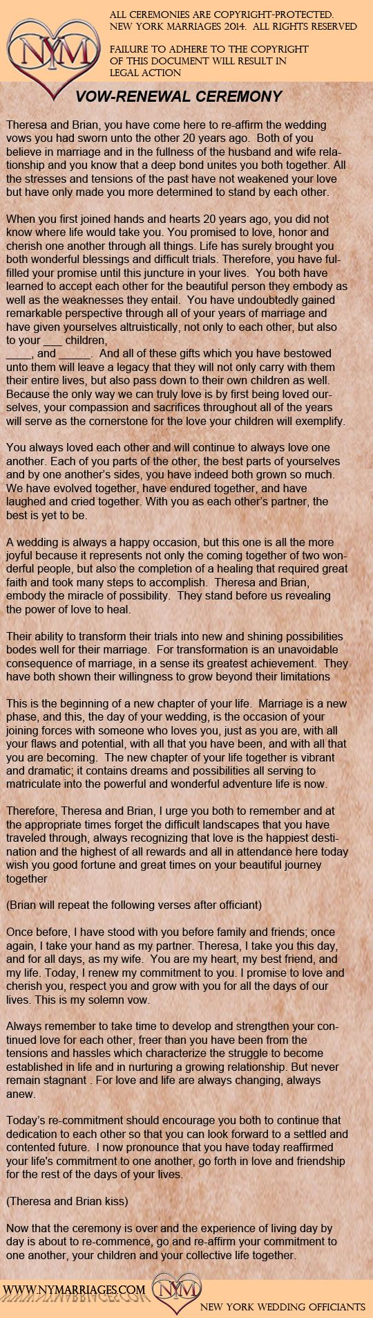 Wine Box Love Letter Ceremony Sample Wedding Ceremonies New York Officiant Long