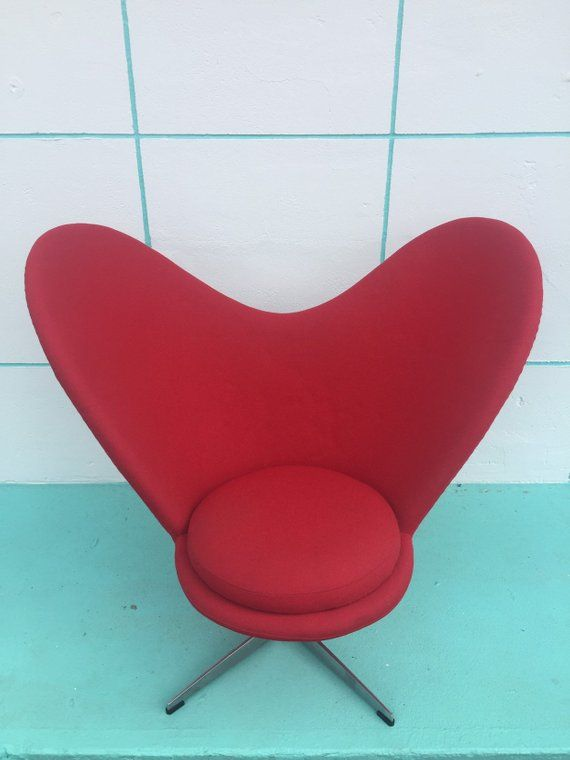Vintage Mid Century Modern Panton Inspired Heart Chair