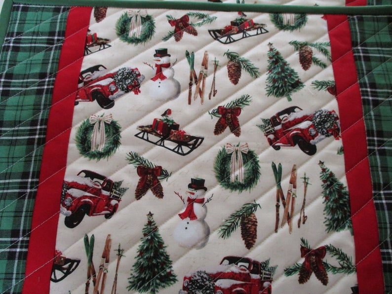 Quilted Placemats Farmhouse Placemats Christmas Placemats Etsy Christmas Placemats Farmhouse Placemats Place Mats Quilted