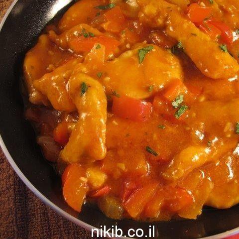 נתחי חזה עוף ברוטב פלפלים מעולה התבשיל הכי טעים שיש יוצא נהדר Cooking Recipes Food Guide Cooking
