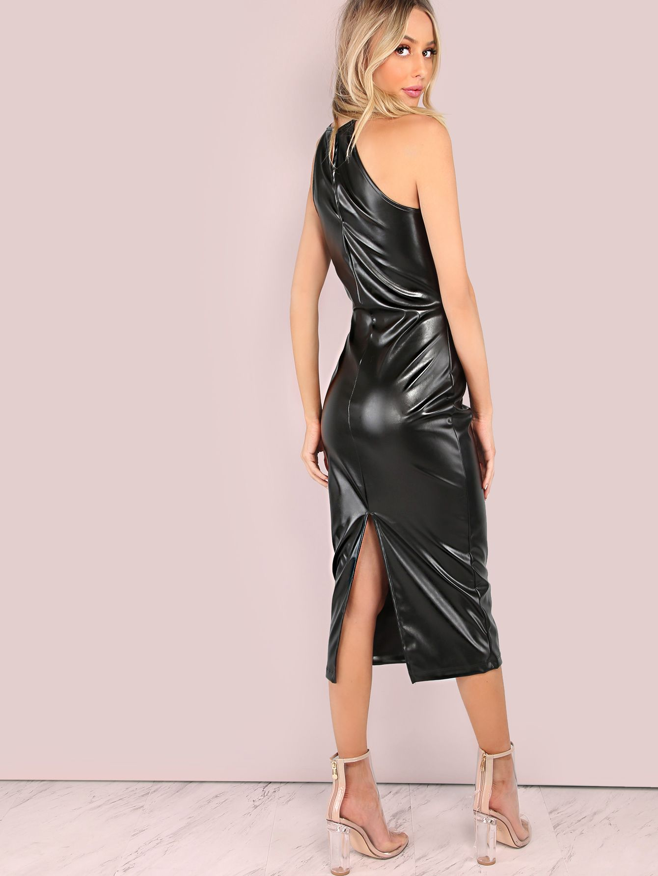 Faux Leather Bodycon Dress Leather Dresses Leather Bodycon Dress Dresses [ 1785 x 1340 Pixel ]