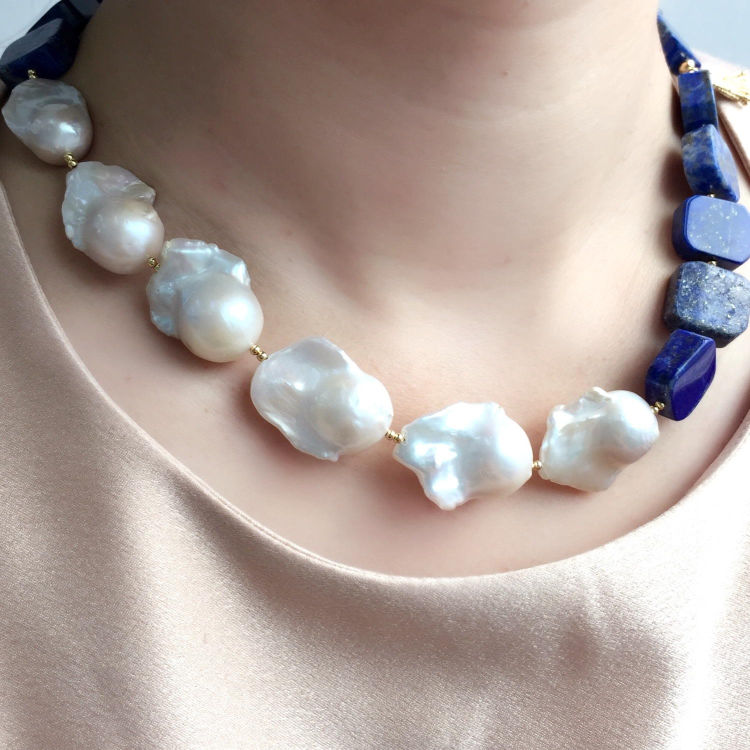 Fresh Water Pearl Square Necklace