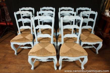 Set 8 Painted French Ladderback Dining Chairs Kitchen Oak Chair  (436×290) | Kitchen Chairs | Pinterest | Dining Chairs And Kitchens