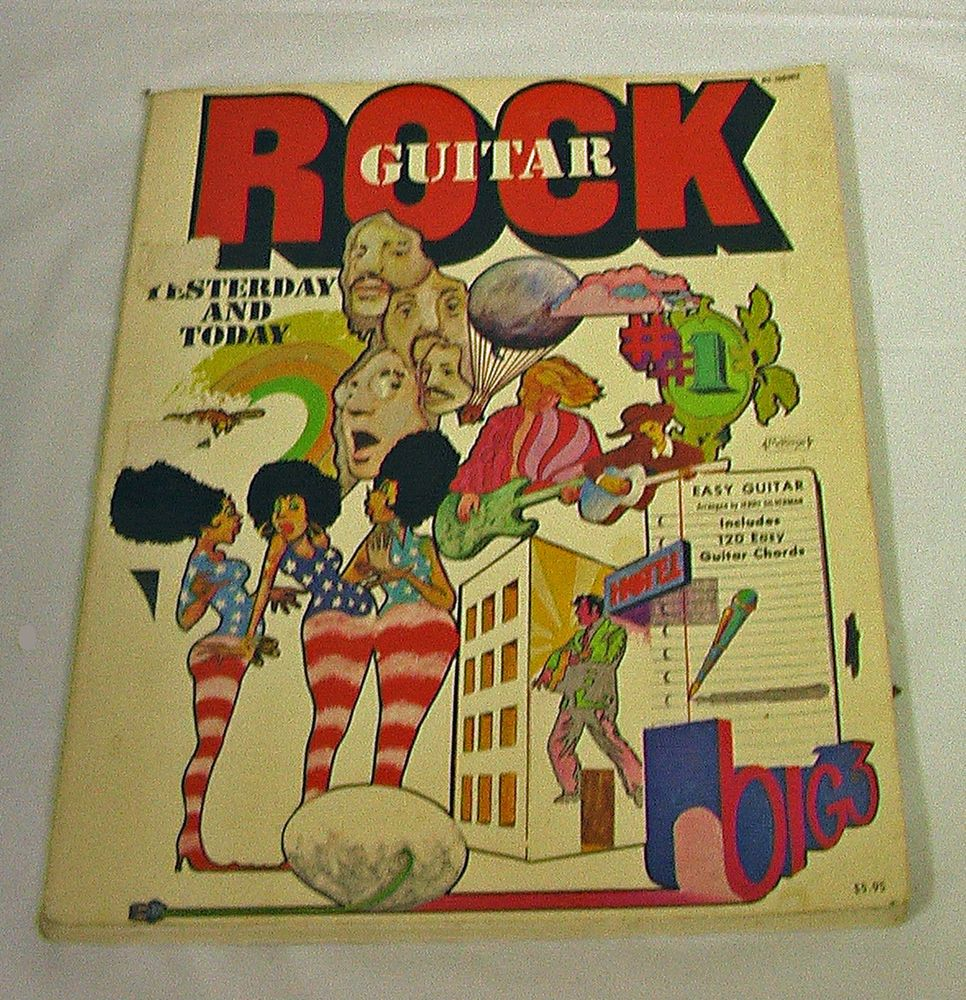 Rock Guitar Yesterday Today 120 Easy Guitar Chords Sc Pb Vintage