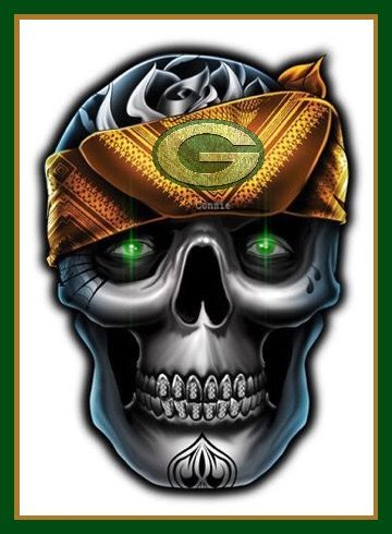 2a2f8f202 Packers are bad to the bone! | green bay packers crafts | Skull ...