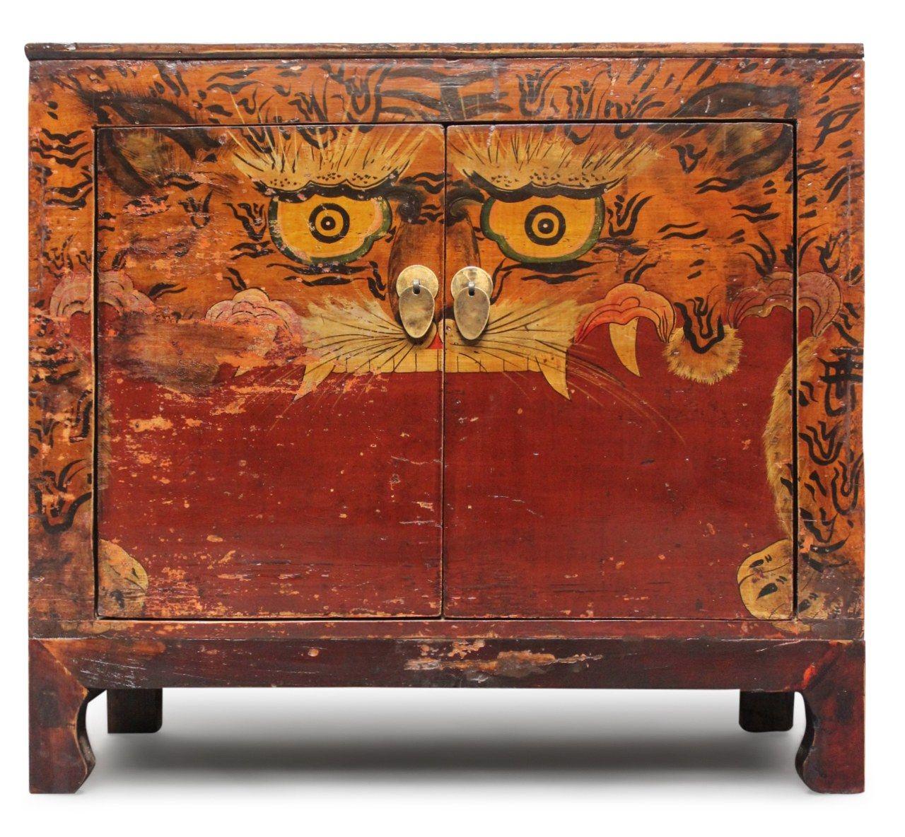 Chinesische Kommode Eye Of The Tiger Aus Ulmenholz Die Asiatische