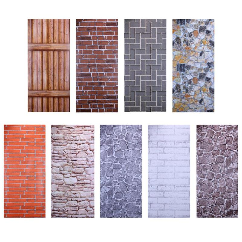 Brick 3d Wall Stickers Diy Self Adhesive Pvc Wallpaper Art Decals For Home Living Room Decor Decorative Stickers 1 Wall Stickers Brick Brick Pattern Wallpaper Home Living Room