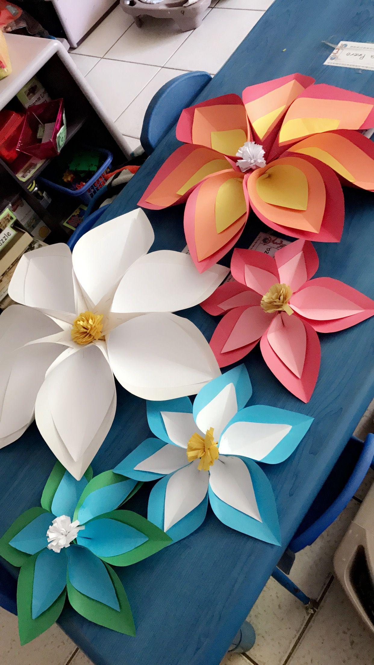 Big Paper Flowers Big Paper Flowers Paper Flowers Flower