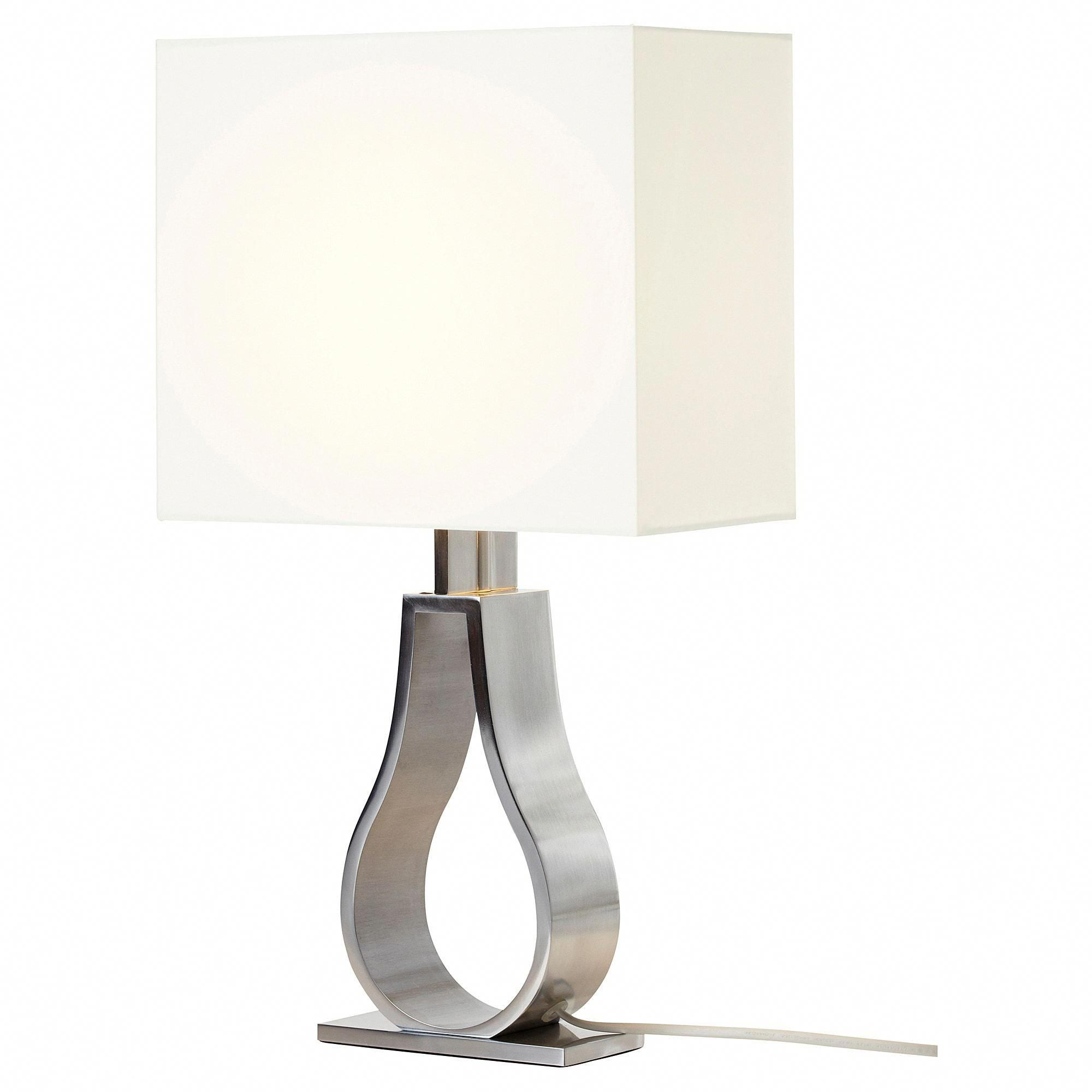 Ikea Klabb Off White Nickel Plated Table Lamp With Led Bulb Hanginglamps With Images Lamp Table Lamp Modern Lamp