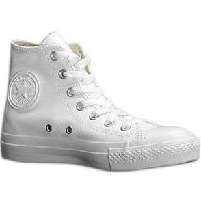 converse all star piel blancas