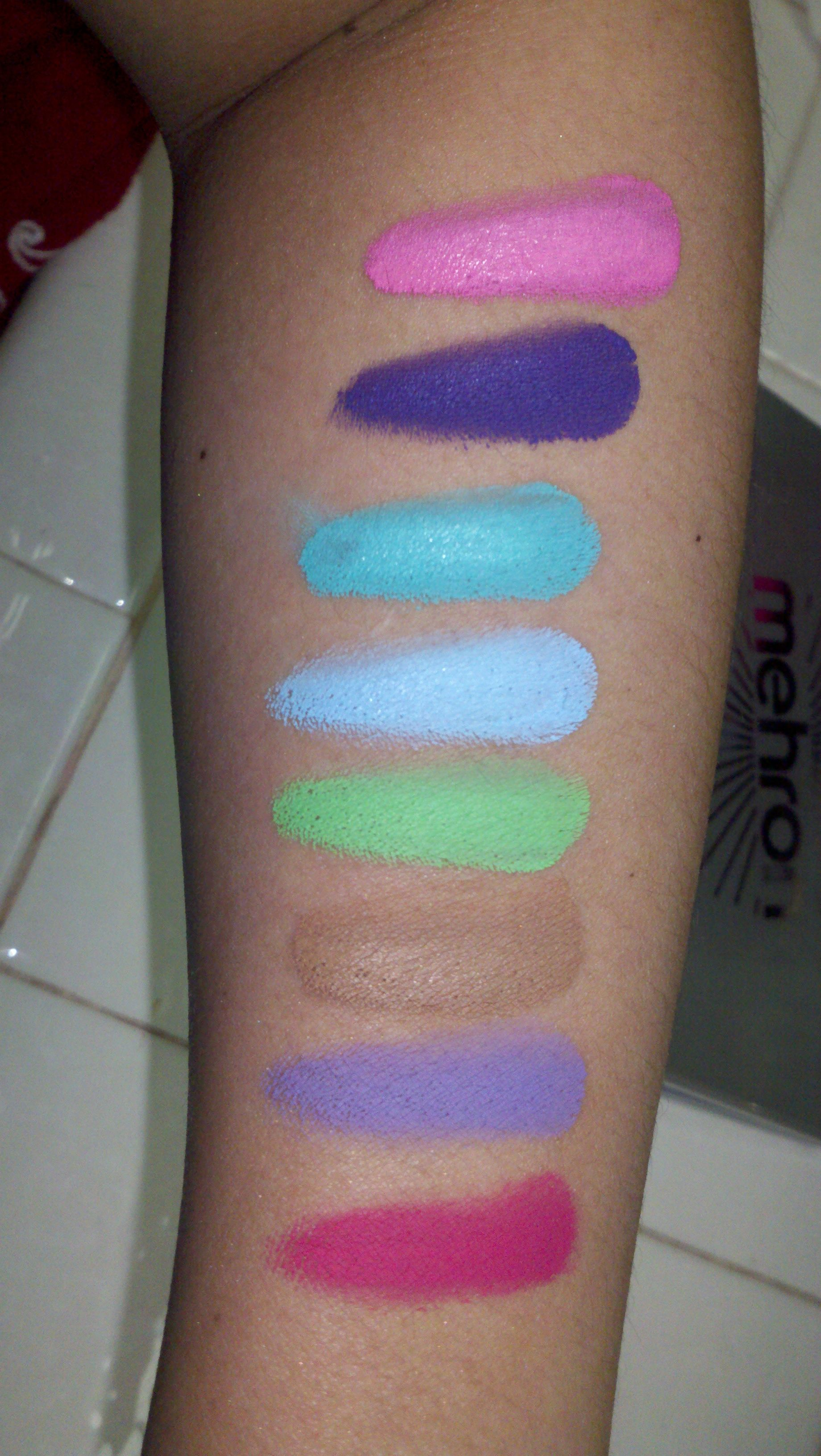 Mehron Paradise Pastel Palette Swatch water based