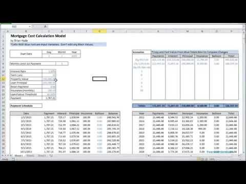 Loan Calculator Excel Excel Mortgage Calculator Template With