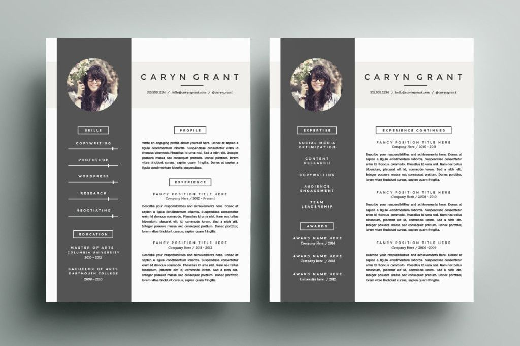 Cv Templates Tayloradamsme On ResumeTemplateByRefineryResumeCoXJpg Eye