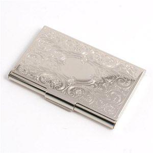 Weddingdepot Com Business Card Holder Embossed Scroll Silver Highly Polished Silver Finish Business Card Case Business Card Holders Business Card Cases