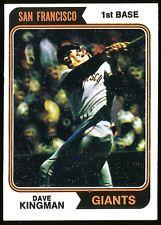 1974 Topps BASEBALL #610 DAVE KINGMAN NRMINT S.F. GIANTS (oox)