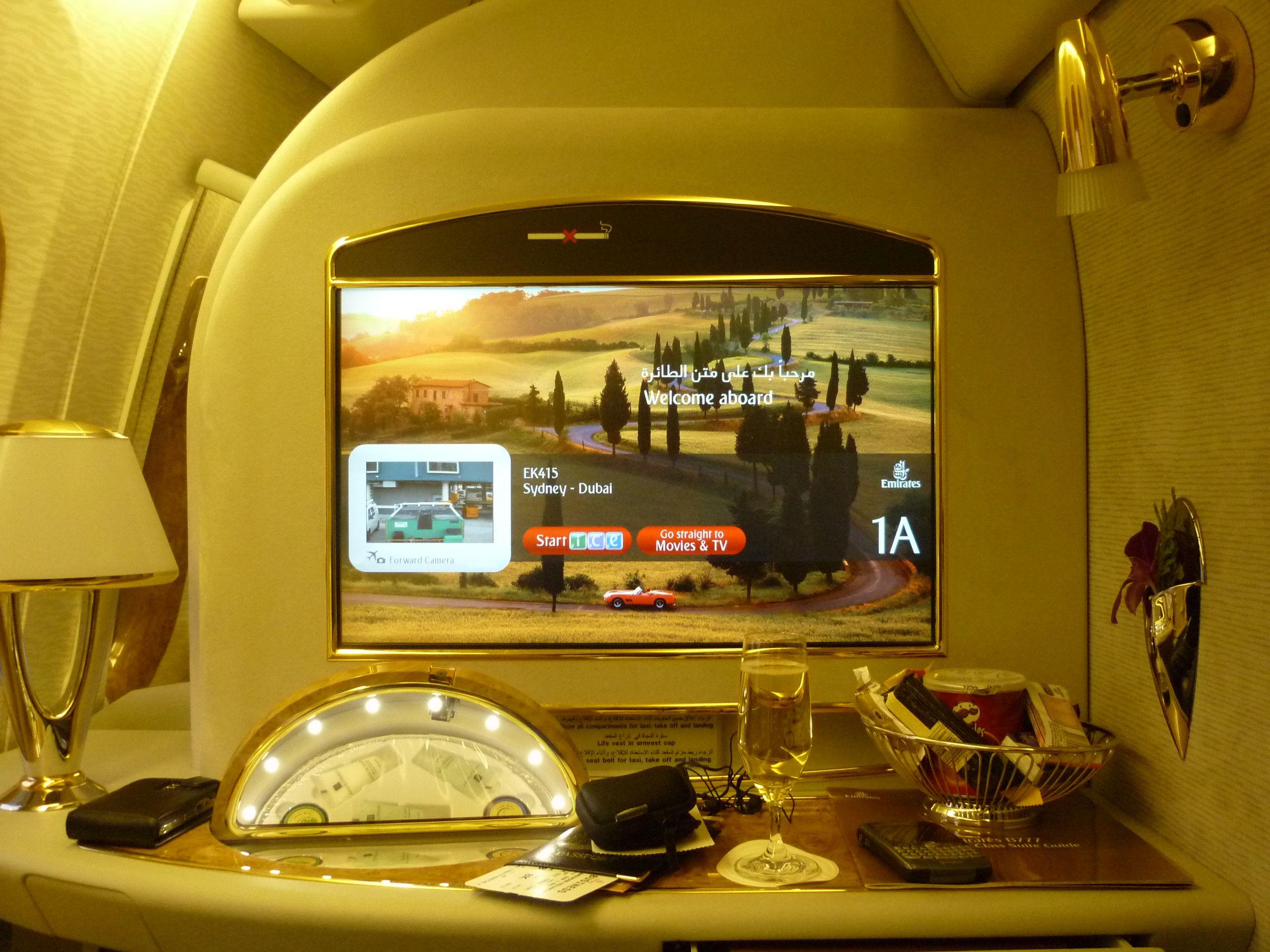 My favourite flight ever! Sydney - Dubai 1st class of course! #Emirates