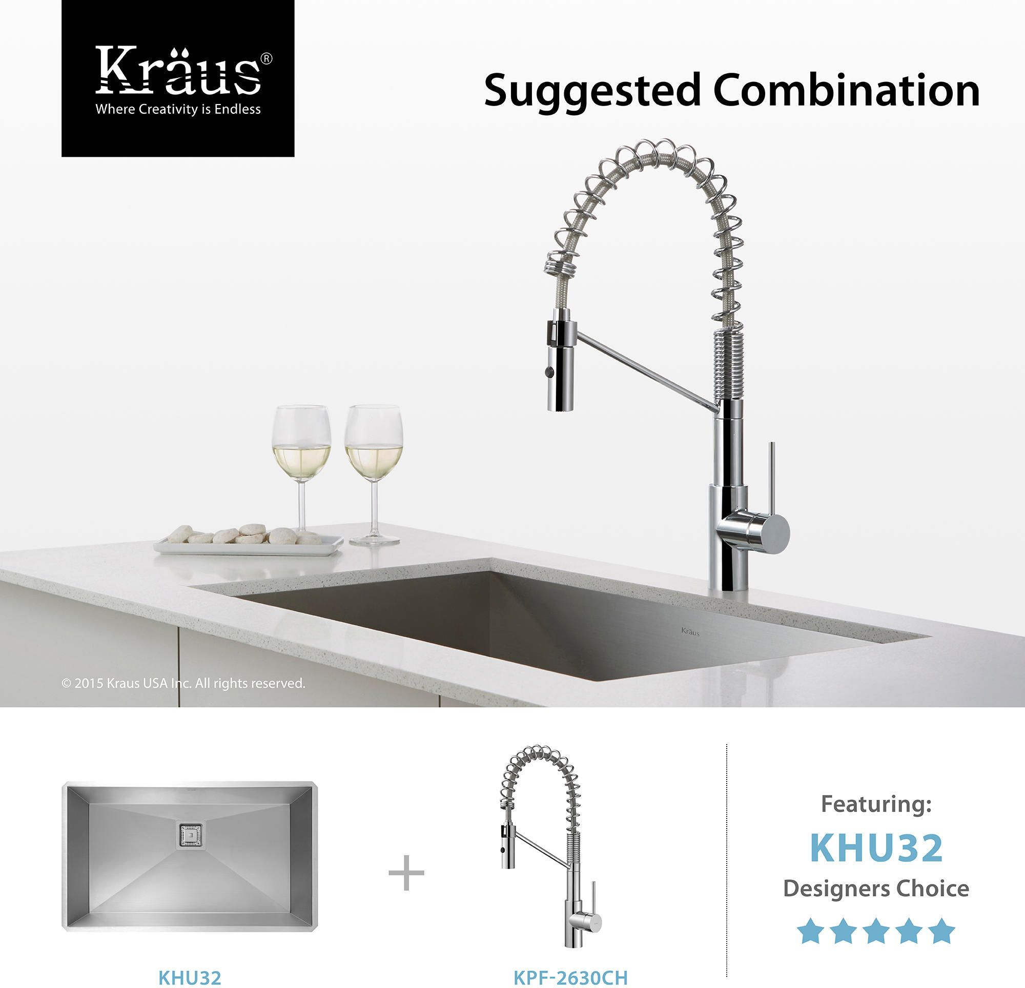 $180, Find, Shop For And Buy Kraus KPF 2630 Kitchen Faucet At QualityBath