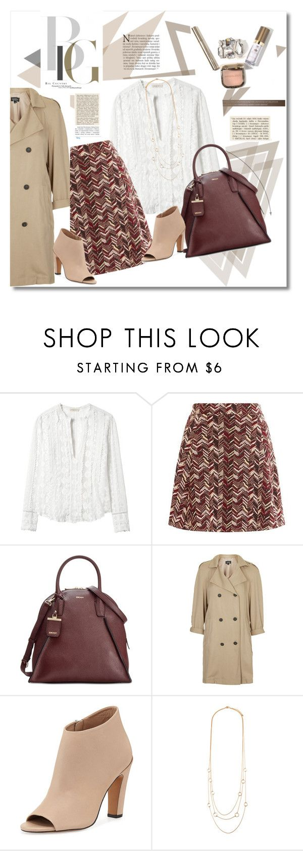 look the day by vkmd on Polyvore featuring Rebecca Taylor, Topshop, Vince, DKNY, Forever 21 and GetTheLook