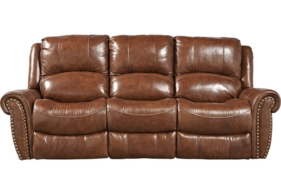 Cheap Sectional Sofas picture of Abruzzo Brown Power Reclining Leather Sofa from Furniture