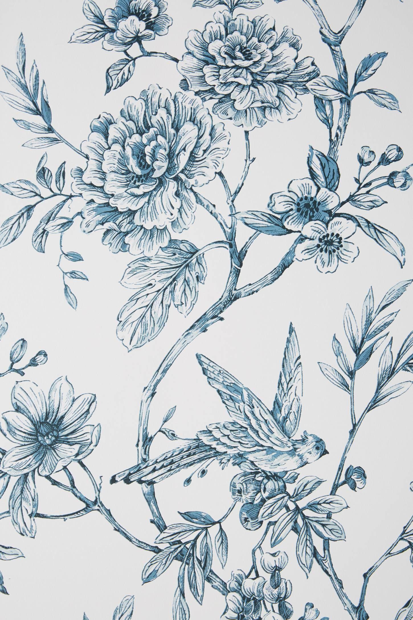 2020 的 Floral Trail Wallpaper by Anthropologie in Black