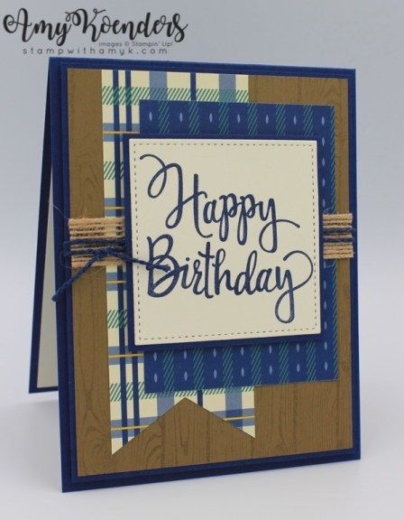 Stampin Up Stylized Birthday For The Inkin Krew Blog Hop Masculine Cards Stampin Up Cards Handmade Handmade Birthday Cards