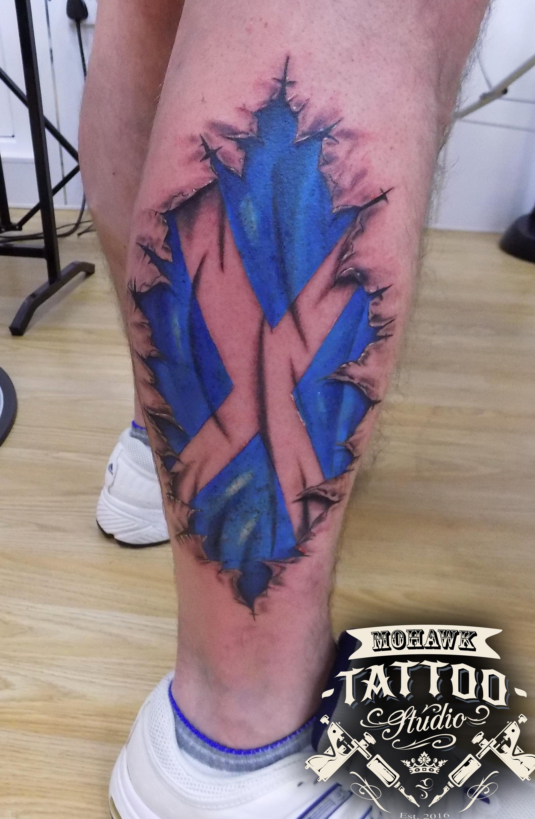f2b73ad79 Scottish Thistle Tattoo, Ripped Skin Tattoo, Dragon Tattoo Designs, Awesome  Tattoos, Cool