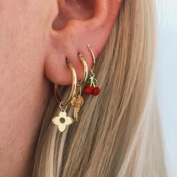 Photo of 14K LUCKY CHARMS (HOOPS)