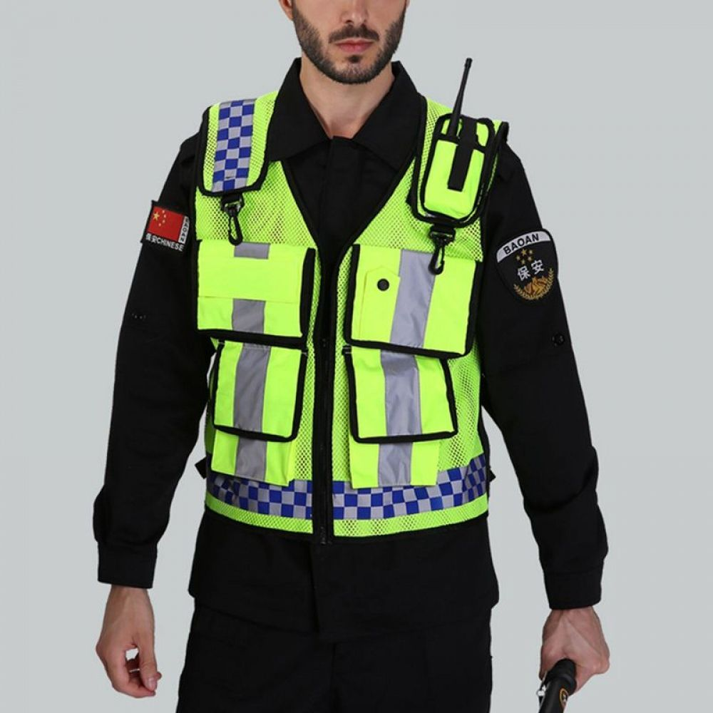 New safety vest vest with pocket high reflective in 2020