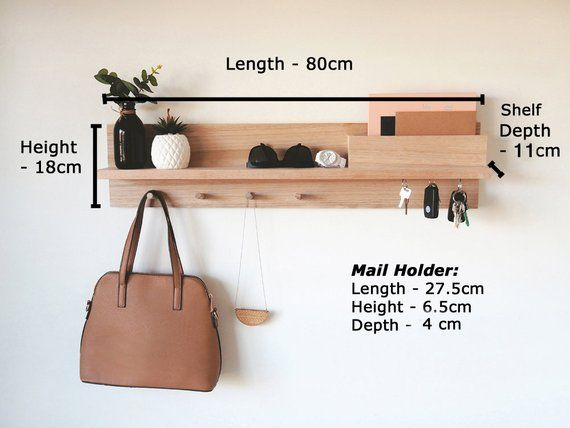 Entryway Organizer All In One 80cm Entryway Wall Organizer Coat Rack With Shelf Wall Mount Coat Rack Entryway Wall Decor Entranceway Handmade Wood Furniture Wood Furniture Diy Entryway Organizer Wall
