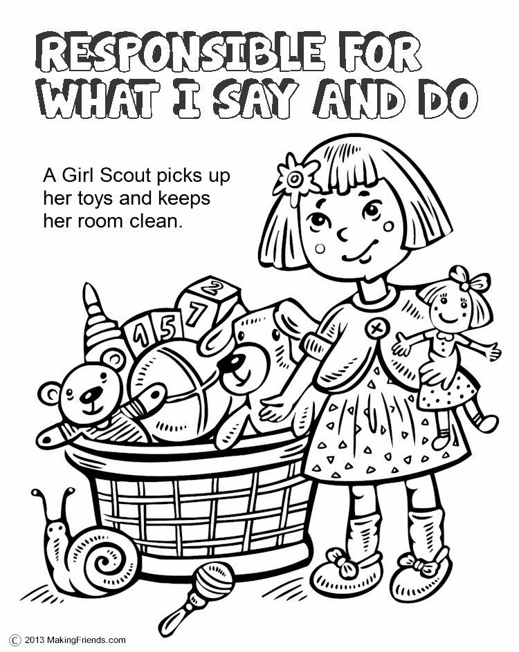 The Law, Responsible for What I Say and Do Coloring Page | Girl ...