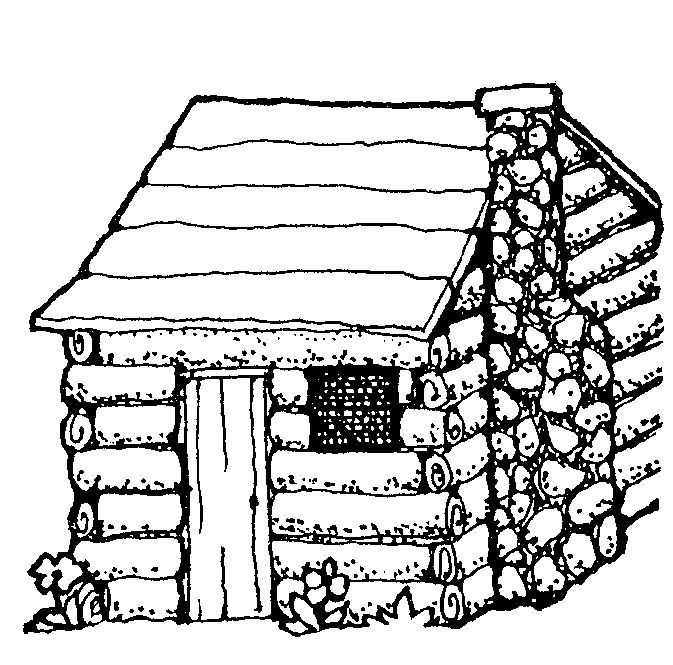 Log Cabin Coloring Page Cabin Art Coloring Pages Black And White Sketches