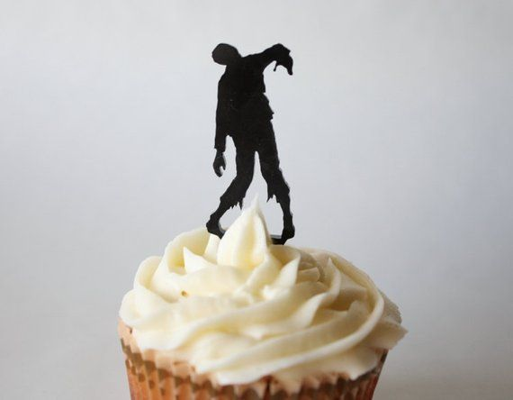 12 Zombie Cupcake Toppers Acrylic