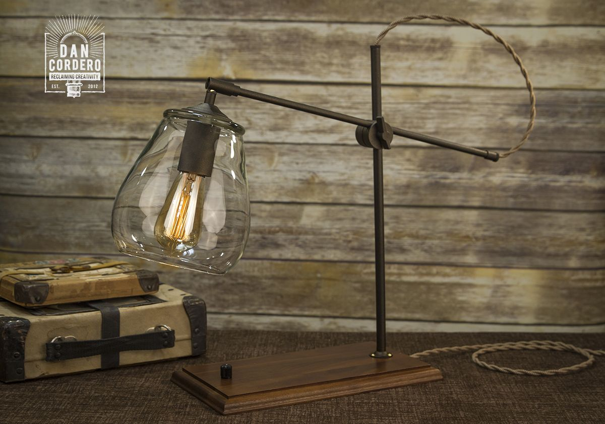 Edison Bulb Table Lamp | Industrial