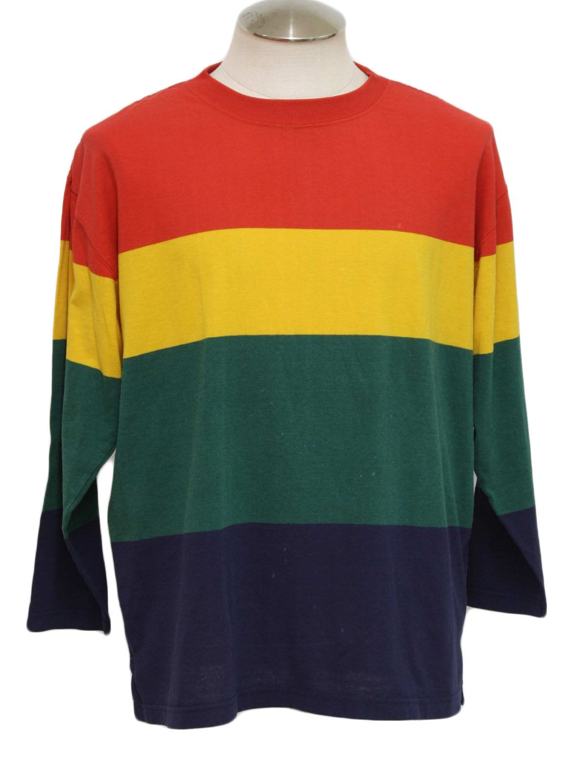 Vtg 90s Wrangler Cotton Color Block western Shirt men L cowboy red ...