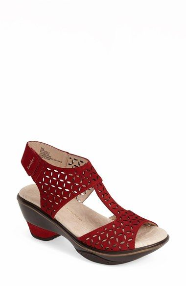 Jambu 'Butterfly' T-Strap Nubuck Leather Sandal (Women) available at #Nordstrom