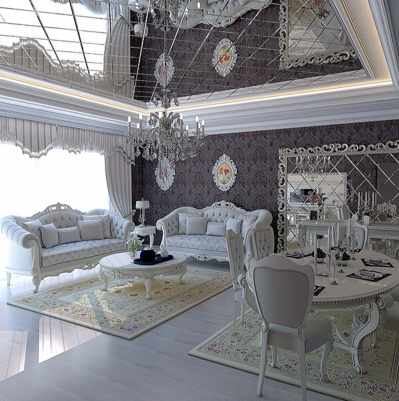 title | White And Silver Living Room Decor