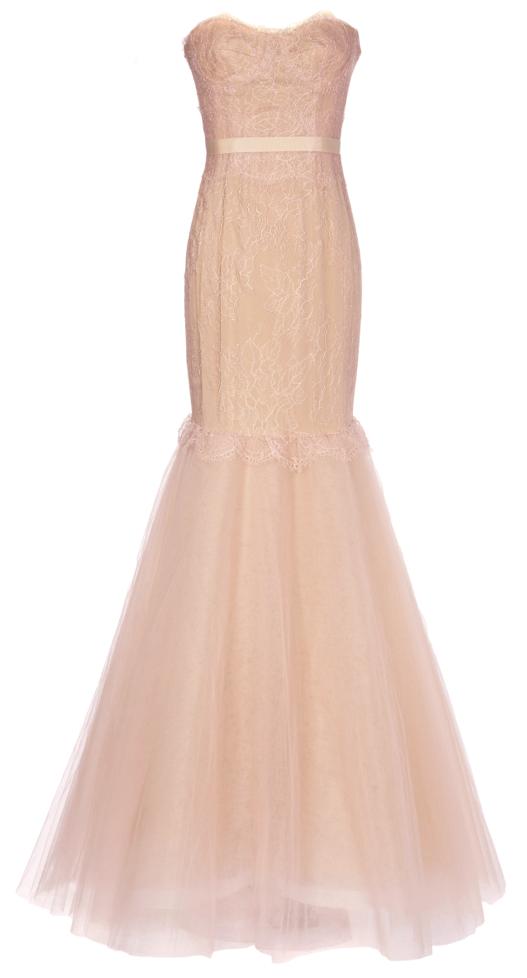 Blush mermaid gown / Marchesa | Clothes - My Red Carpet | Pinterest ...