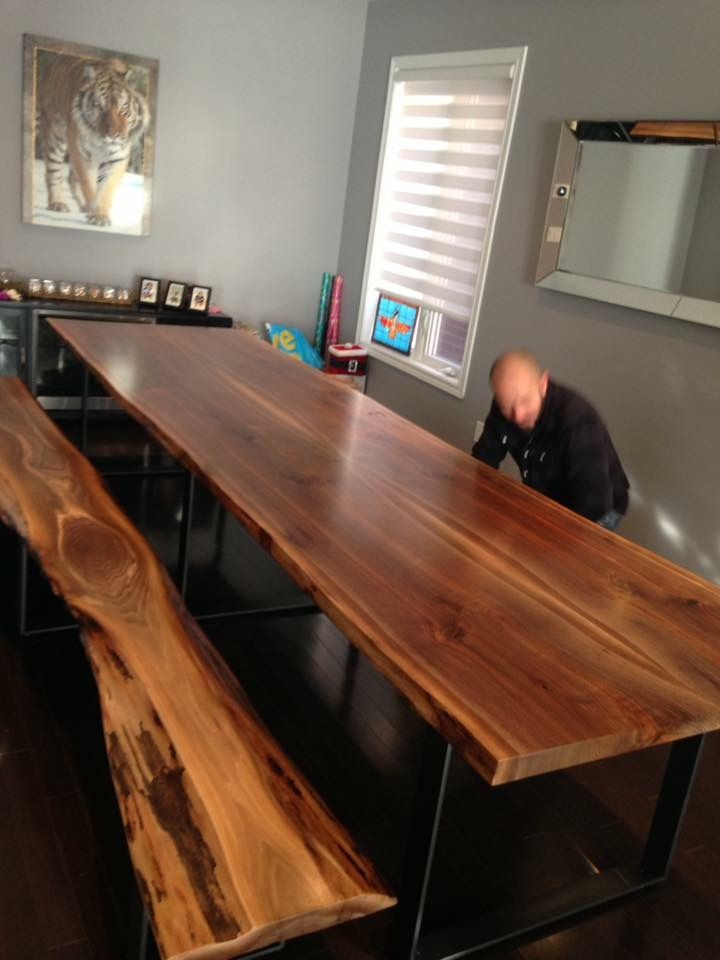 Black Walnut Table Live Edge Table Wood Slab Tables