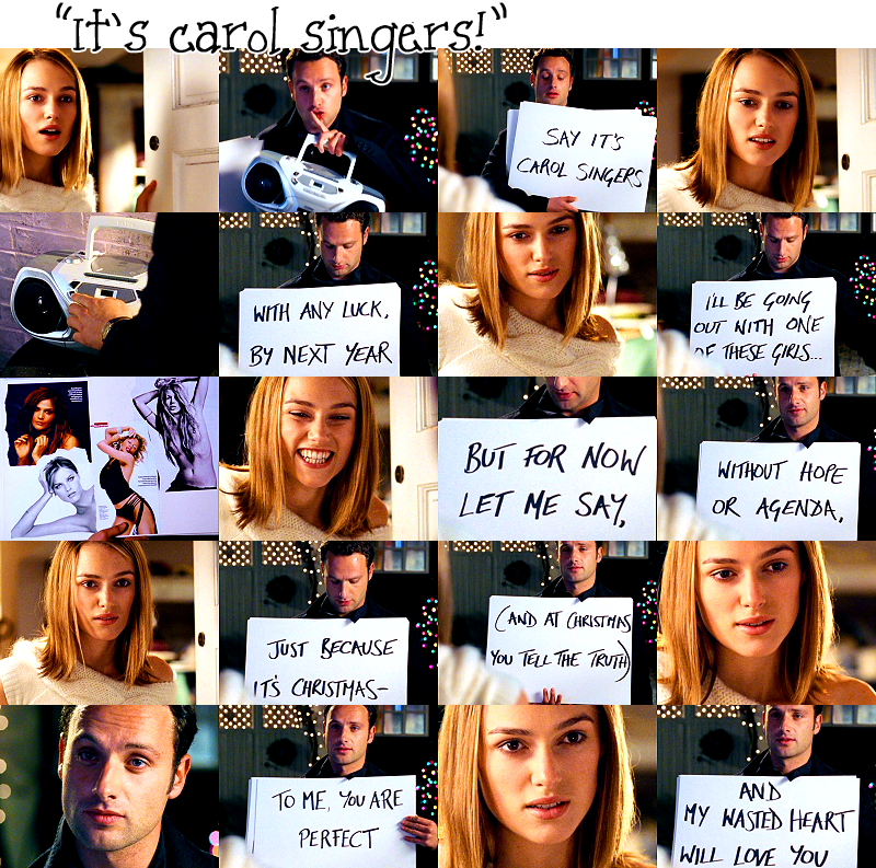 Love Actually Mark Tells Juliet He Loves Her Love Actually Love Actually 2003 Andrew Lincoln Love Actually