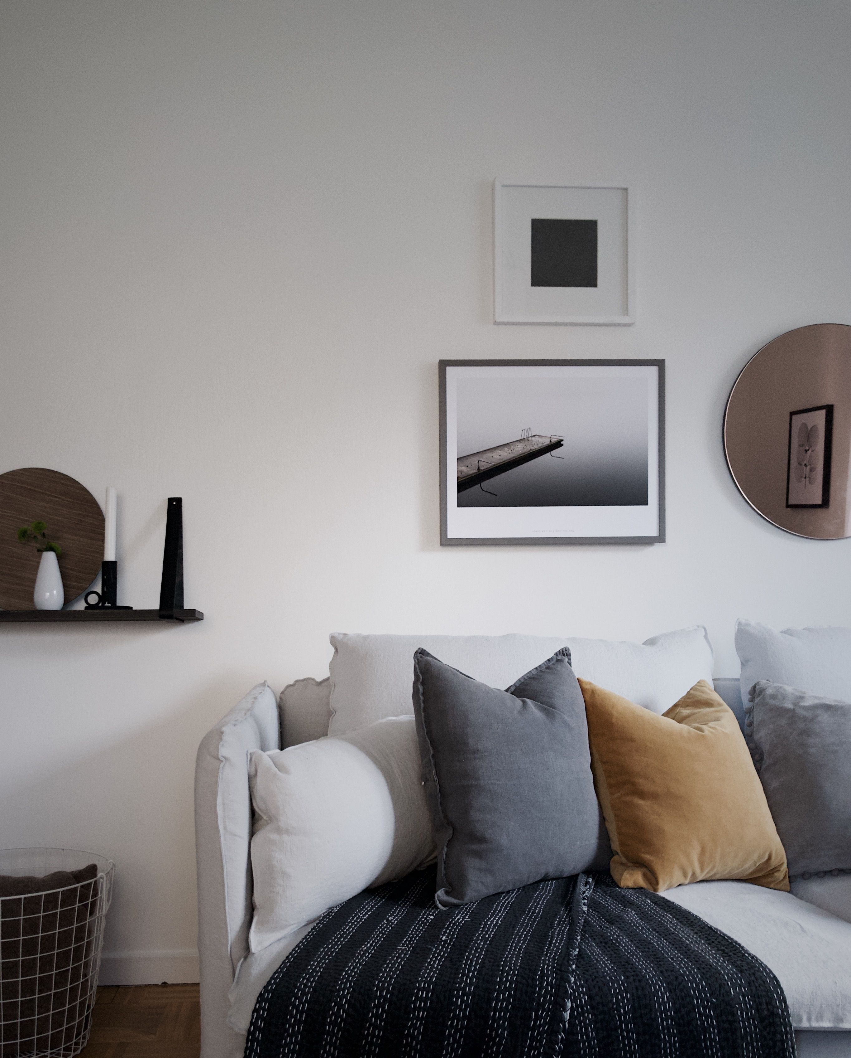Urban Sofa Gallery Average Height Table Soderhamn 3 Seater Cover Loose Fit For The Love Of Cosy Scandinavian Vibes Ochre Accent Cushion Adds A Pop Colour Grey Linen Minimalist Wall Ikea With Bemz